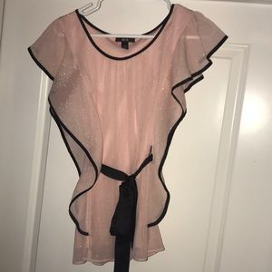 Pink sparkle ruffle top
